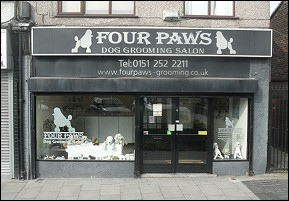 four paws dog grooming salon childwall liverpool home